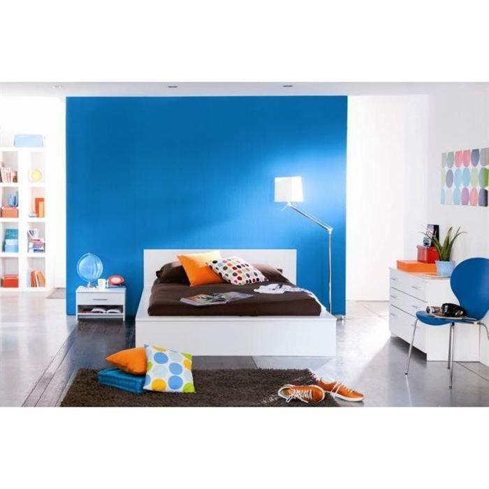 Esther chambre adulte avec lit 140x190 cm achat vente for Stickers chambre enfant avec matelas sensogel 140x190 cm