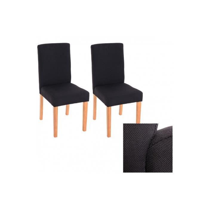 Chaises de salle manger lot de 2 milano tissu achat vente chaise cdiscount - Lot de 6 chaises salle a manger ...
