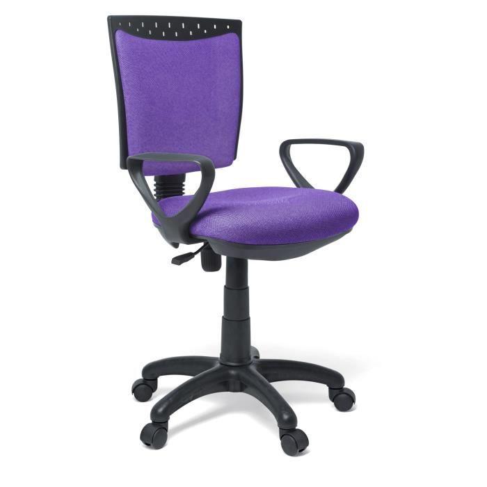 chaise de bureau violet dimensions 92 x 50 achat vente chaise de bureau violet cdiscount. Black Bedroom Furniture Sets. Home Design Ideas