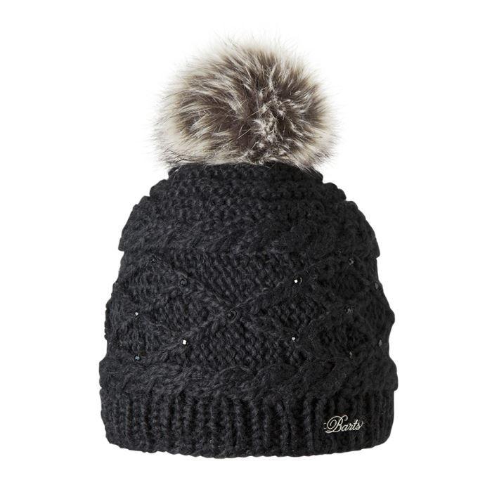 bonnet noir pompon barts noir achat vente bonnet. Black Bedroom Furniture Sets. Home Design Ideas