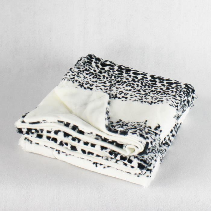 plaid imitation fourrure 125 x 150 panthere achat vente couverture plaid cdiscount. Black Bedroom Furniture Sets. Home Design Ideas