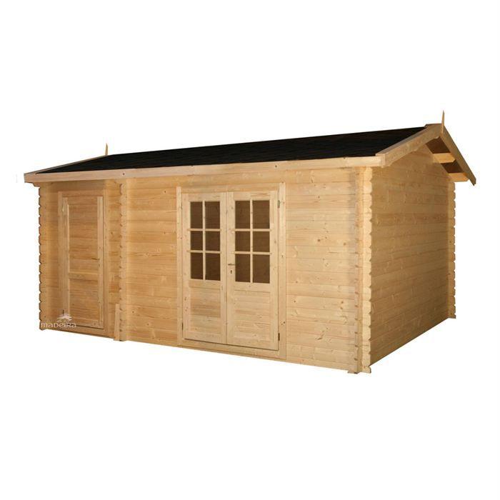 Abri jardin bois m achat vente abri jardin for Porte de chalet de jardin
