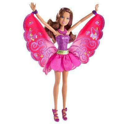 poupe barbie fe style mauve
