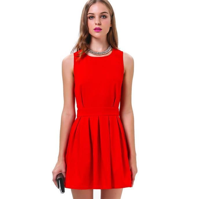 HD wallpapers plus size red skater dress