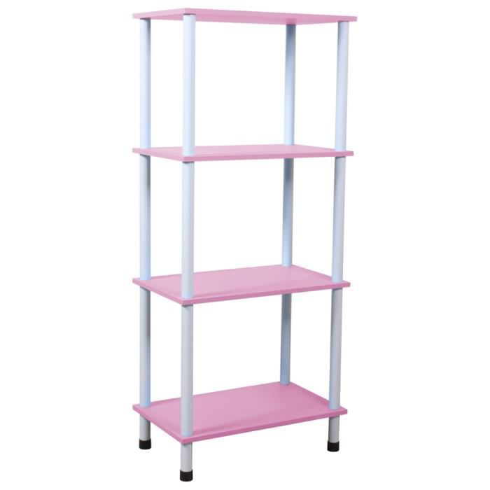 wickford tour de rangement a 4 etageres rose achat vente meuble tag re wickford tour. Black Bedroom Furniture Sets. Home Design Ideas