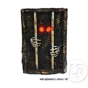 D Coration Murale Lumineuse Squelette En Prison 46cm