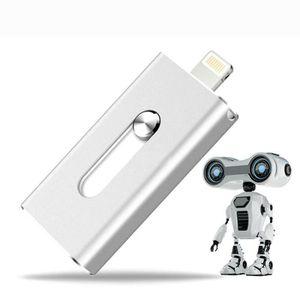 DISQUE DUR EXTERNE CC Métal i-Flash Drive 32GB double ports USB / fou