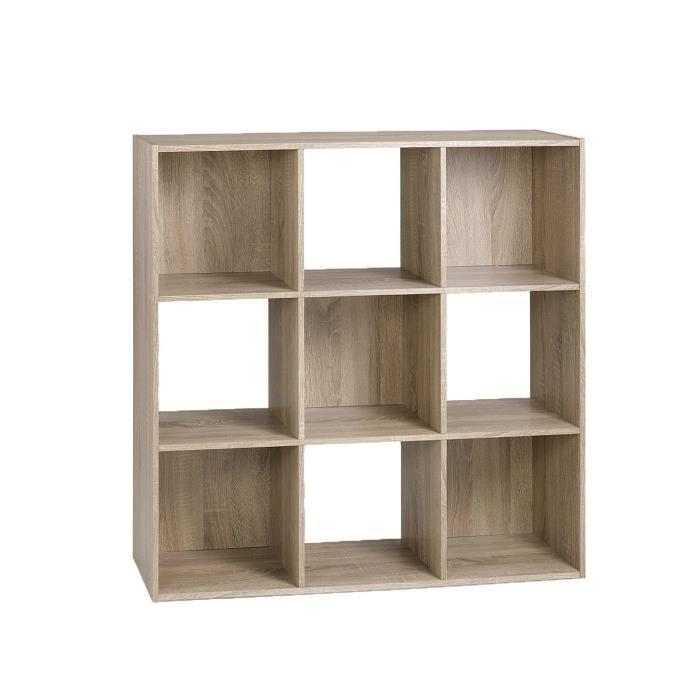 Compo meuble de rangement coloris ch ne l 91 cm achat - Meuble cube de rangement ...