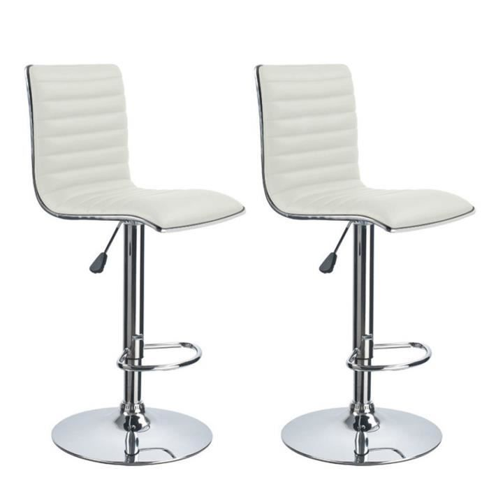 2 tabouret blanc de bar cuisine haut fixe tournant. Black Bedroom Furniture Sets. Home Design Ideas