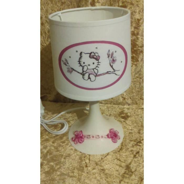 Lampe de chevet hello kitty fleur 3d achat vente lampe - Table de chevet hello kitty ...