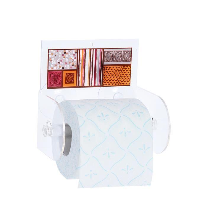 D rouleur de papier toilette blanc achat vente for Rangement papier toilette blanc