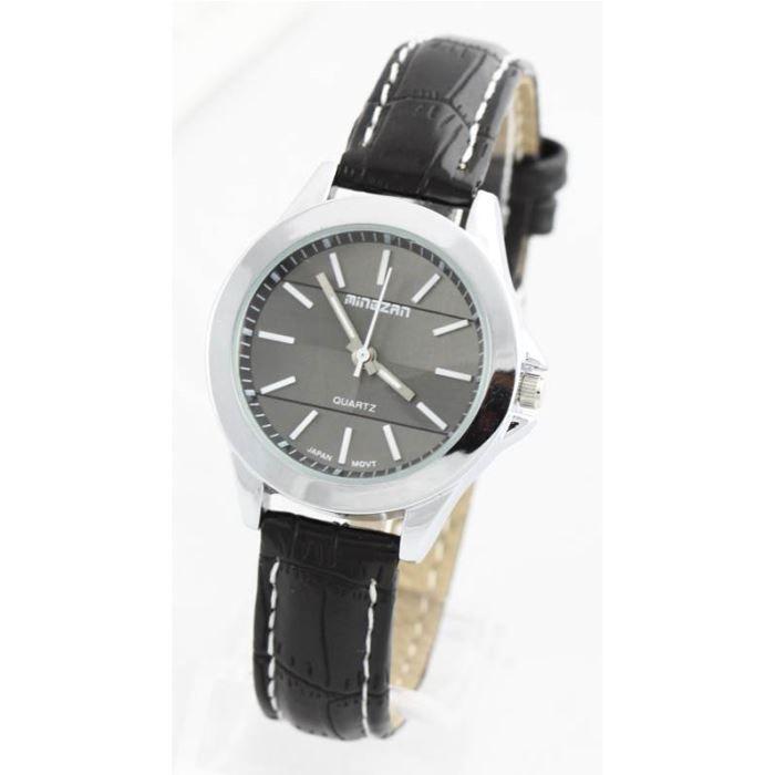 montre femme bracelet cuir noir 1351 noir achat vente montre soldes d t cdiscount. Black Bedroom Furniture Sets. Home Design Ideas