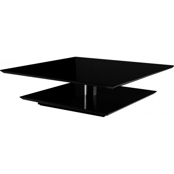 Table basse design carree laque taupe meuble style design - Table basse carree design ...