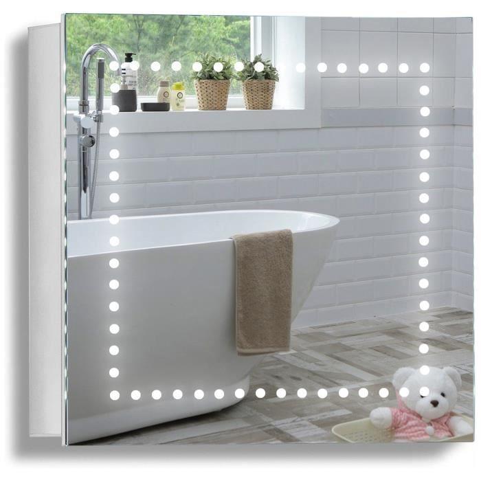 Armoire de toilette pour salle de bain avec miroir for Miroir salle de bain avec television