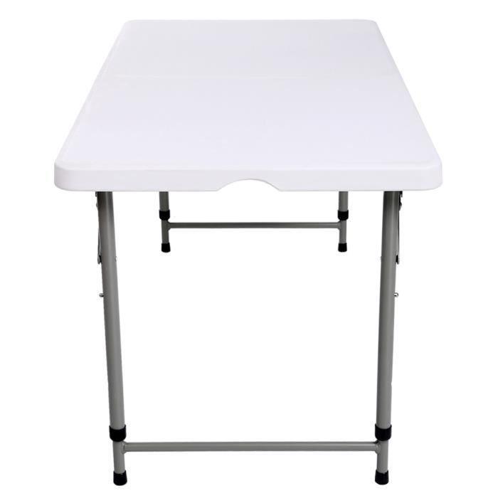 Table pliante nouveau heavy duty pique nique camping - Table pliante reglable en hauteur ...