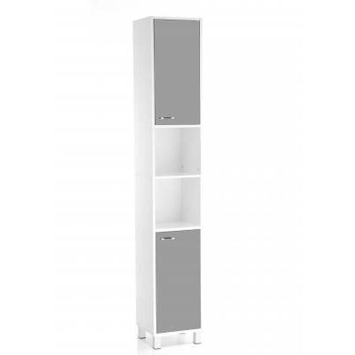 Colonne de salle de bain gris l30 x p32 x h194 cm achat vente colonne - Colonne salle de bain occasion ...