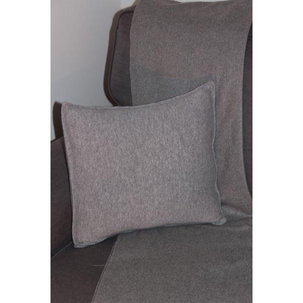 Housse de coussin gris claire 100 cachemire achat for Housse de coussin 35x35
