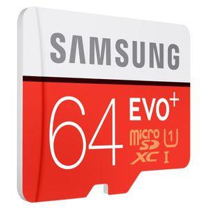 CARTE MÉMOIRE Samsung MicroSD Evo Plus 64G