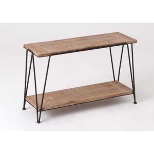 console meuble bois et metal achat vente console. Black Bedroom Furniture Sets. Home Design Ideas