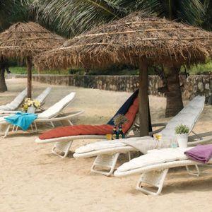 Bain de soleil resine blanc achat vente bain de soleil for Chaises longues resine tressee