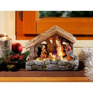 CRÈCHE DE NOËL Crèche de Noël à LED - Avec santons !