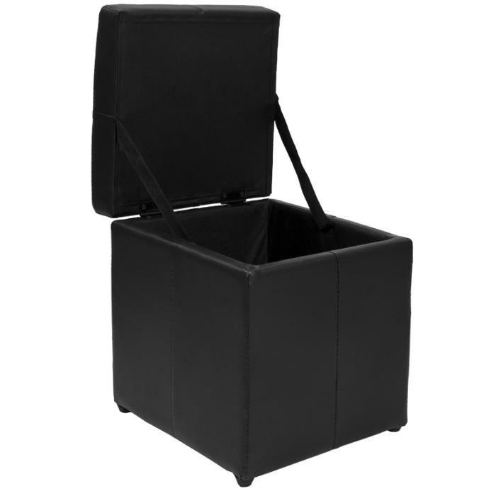 pouf coffre noir achat vente banquette cdiscount