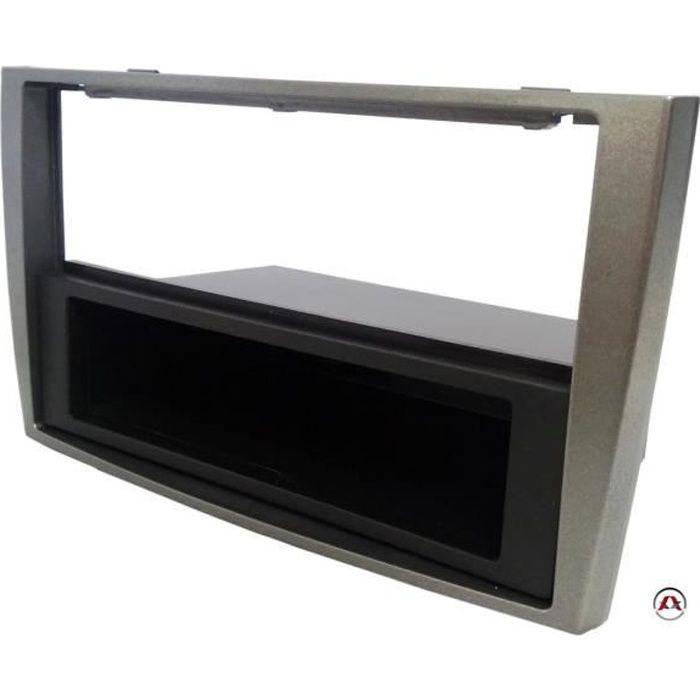 fa ade autoradio 2 et 1din peugeot 308 et 308cc ap07 argent avec vide poche achat vente. Black Bedroom Furniture Sets. Home Design Ideas