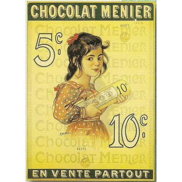 affiche 50x70cm pub retro chocolat menier achat vente affiche les soldes sur cdiscount. Black Bedroom Furniture Sets. Home Design Ideas