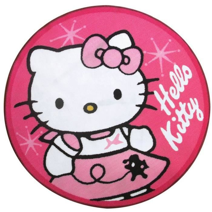 Hello Kitty Tapis Rond Et Rose Achat Vente Tapis Cdiscount