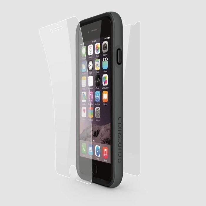 pack rhino shield crash guard gris spatial et protection ecran pour iphone 6 achat. Black Bedroom Furniture Sets. Home Design Ideas