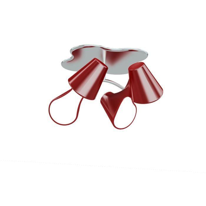 Plafonnier ORA 4L design mantra rouge Achat Vente