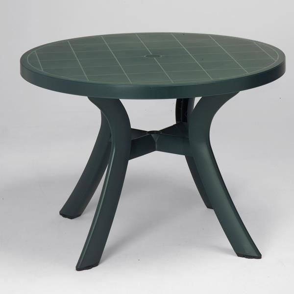 Table d montable nardi toscana 100 vert for t achat for Table jardin 6 personnes plastique