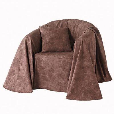 jete canape marron d 180 270 achat vente housse de canape cdiscount. Black Bedroom Furniture Sets. Home Design Ideas