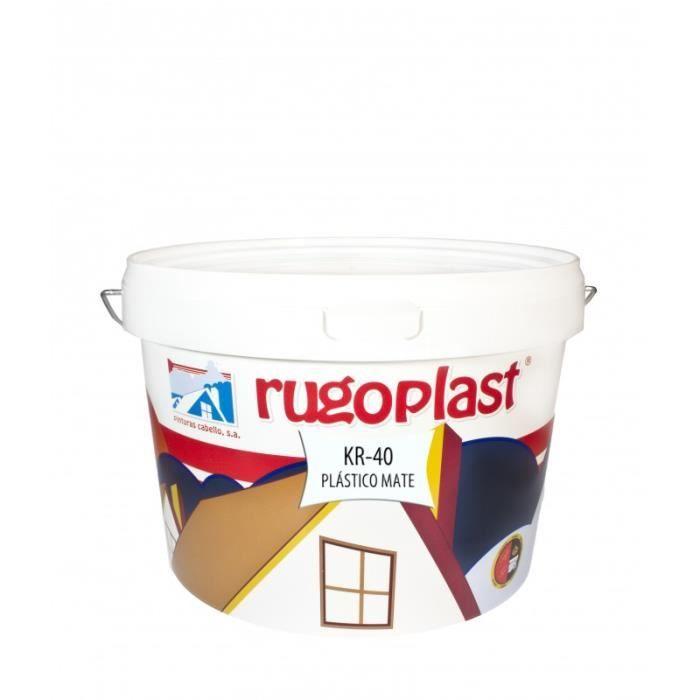 Peinture plastique mate kr 40 10 kg achat vente for Peinture plastique