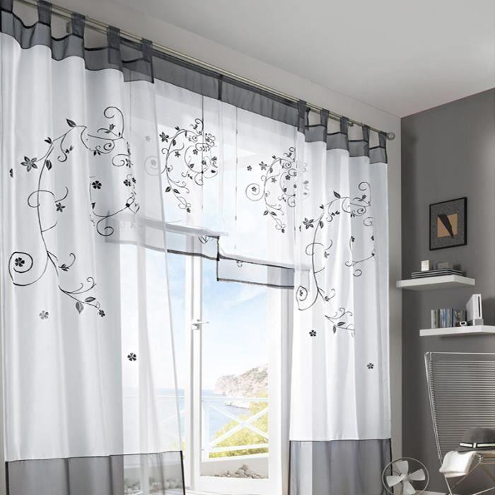 1 pcs rideau de fen tre 140x260cm double rideau en voile. Black Bedroom Furniture Sets. Home Design Ideas