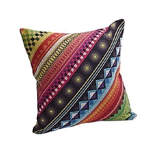 Dreamshop taie d 39 oreiller couverture coussin en lin pour for Taie d oreiller pour canape