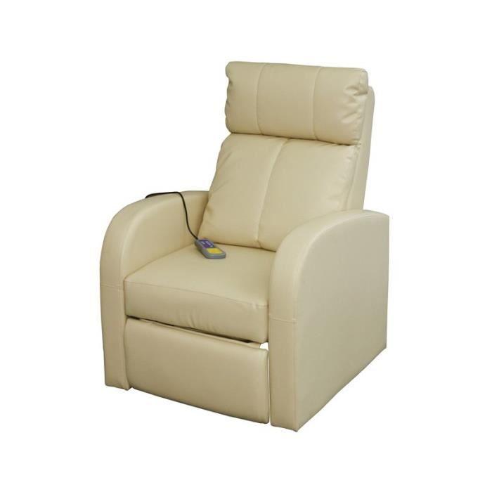 Fauteuil de massages et de relaxation cr me achat vente fauteuil beige - Fauteuils de massage ...