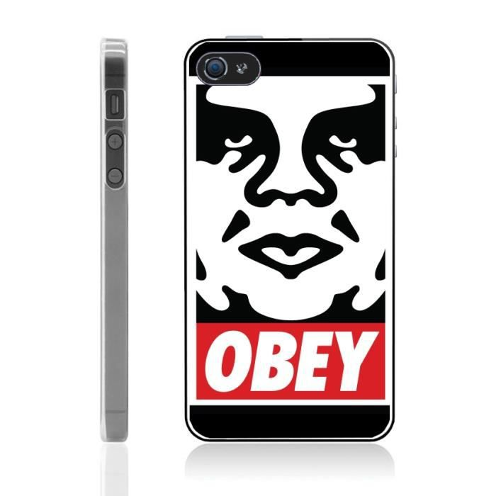 telephonie accessoires portable gsm coque iphone  s obey f auc
