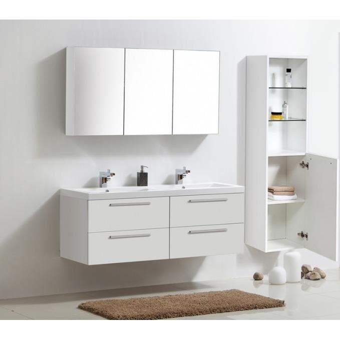 Ensemble de meubles de salle de bain blanc achat vente for Prix salle de bain complete
