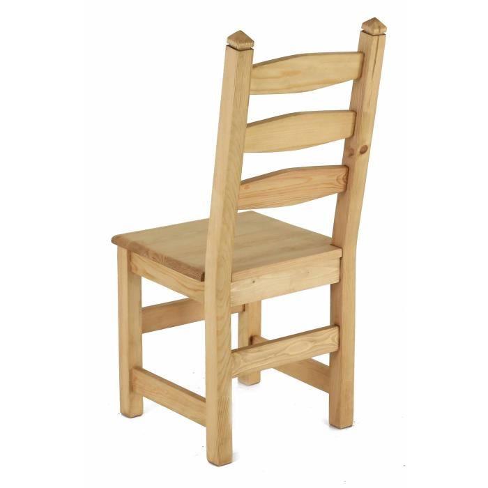 chaise rustique en pin sculpt e lot de 2 achat vente chaise pin bois cdiscount. Black Bedroom Furniture Sets. Home Design Ideas
