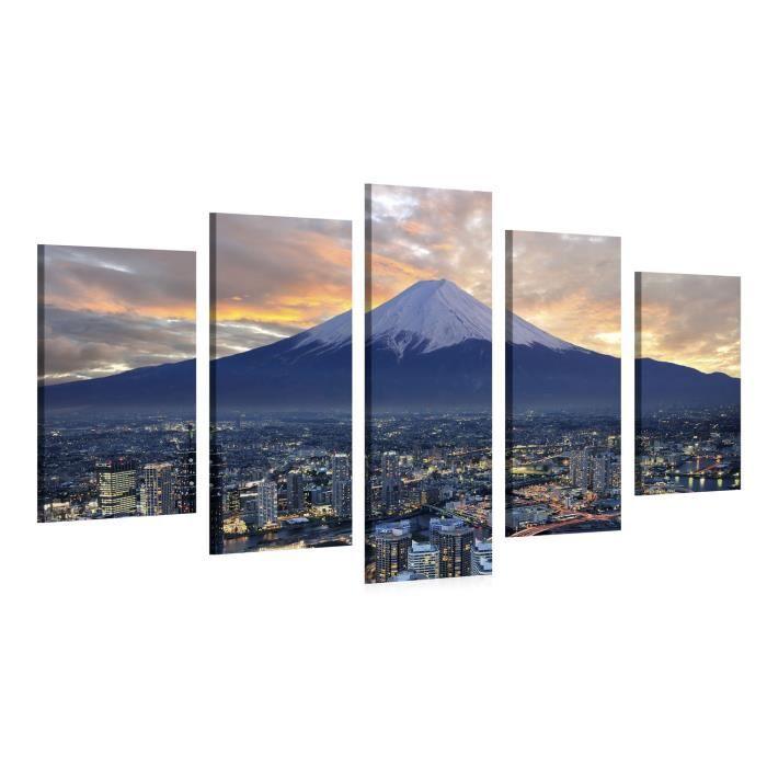 Tableau sur toile mount fuji 150x100cm achat vente for Tableau impression sur toile