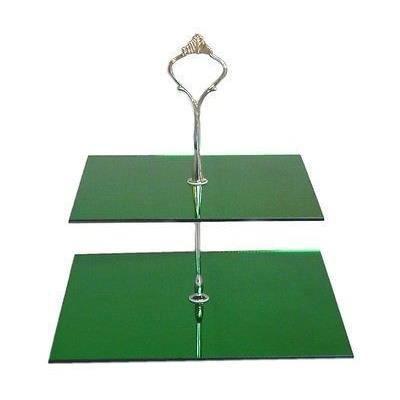 Vert 2 niveaux stand g teau carr grand miroir for Miroir acrylique incassable