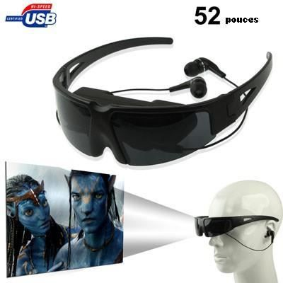 lunette vid o 2d 52 pouces virtuel avec entr e av lunettes 3d avis et prix pas cher cdiscount. Black Bedroom Furniture Sets. Home Design Ideas