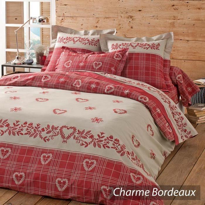 parure de lit 260x240 cm charme bordeaux achat vente parure de couette cdiscount. Black Bedroom Furniture Sets. Home Design Ideas