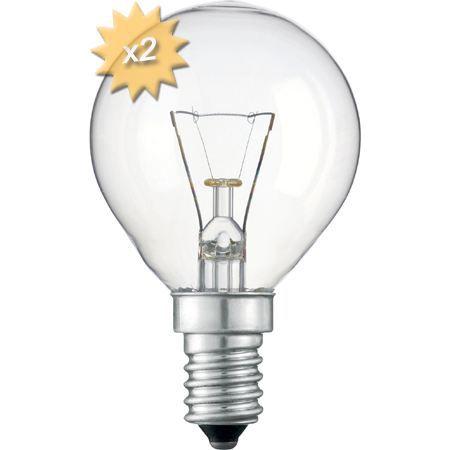 ampoule e14 p45 25w 230 volts x2 achat vente ampoule. Black Bedroom Furniture Sets. Home Design Ideas