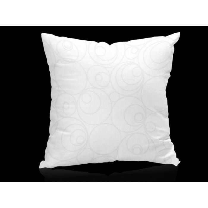 coussin d houssable espace blanc 40x40 cm achat vente coussin cdiscount. Black Bedroom Furniture Sets. Home Design Ideas