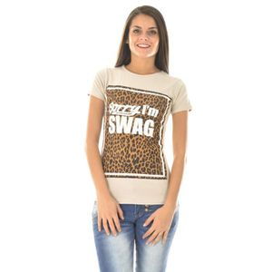 T-SHIRT T-shirt Swagg à motifs léopard