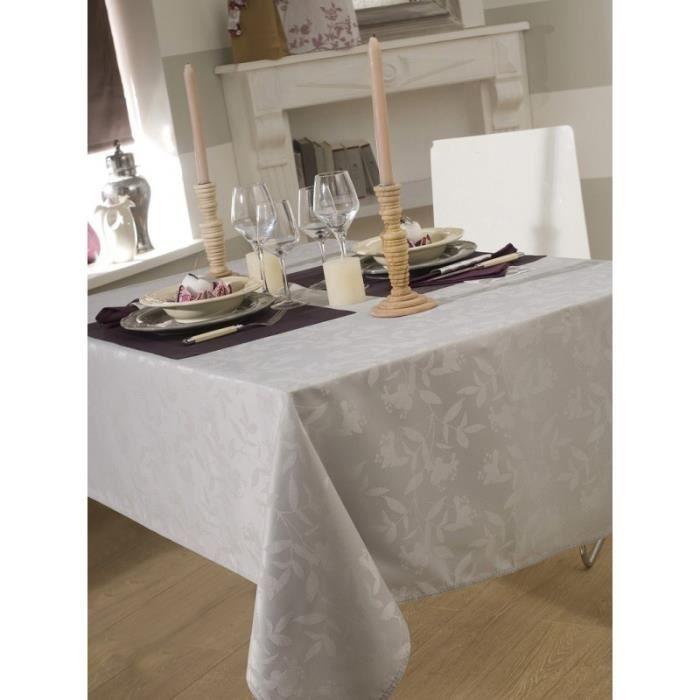 nappe tissu grise table de cuisine. Black Bedroom Furniture Sets. Home Design Ideas