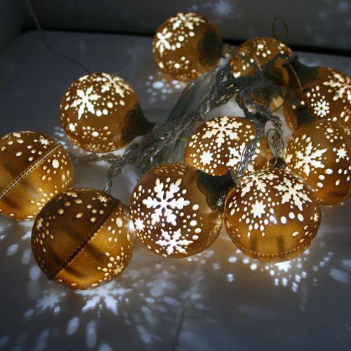 guirlande led 10 boules ajour es or achat vente guirlande led 10 boules ajo cdiscount. Black Bedroom Furniture Sets. Home Design Ideas