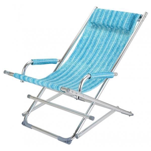 Chaise de jardin alu acier for Toile pour chaise de jardin